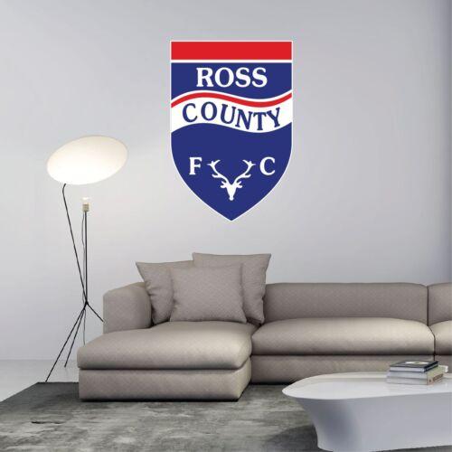 "Ross County FC Scotland Football Soccer Wall Decor Sticker Decal 18/""X25/"""
