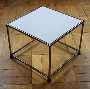 Usm Haller Beistelltisch Tv Stander Tisch 50x50 Lichtgrau Grau