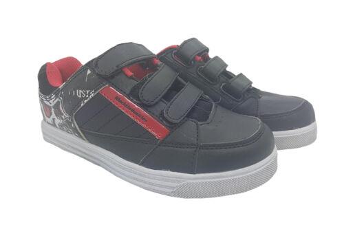 Boys Youth Shoes World Industries Black Hook N Loop Skate Shoe Size UK 5 Sneaker