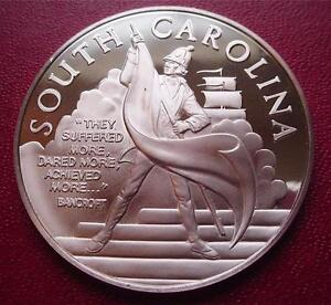 SOUTH-CAROLINA-OFFICIAL-Sterling-Silver-BICENTENNIAL-PROOF-Medal-Uncirculated