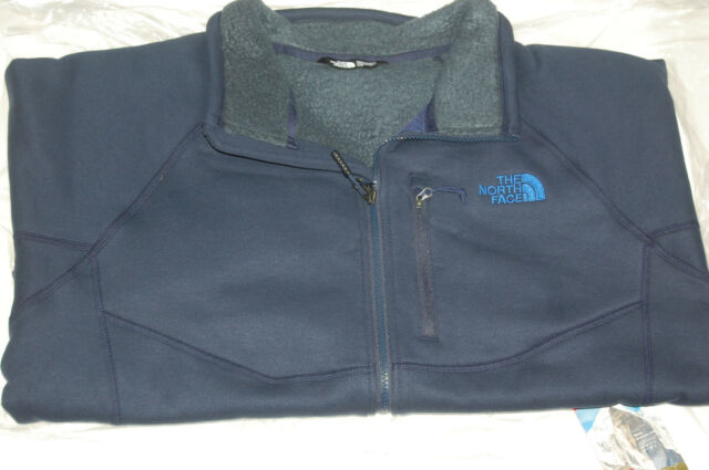 64673bbdd the north face mens timber full zip fleece jacket relaxed fit cosmic blue  medium