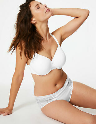 SUPERLIGHT SOFT CUPS SMOOTHING BACK FULL CUP T-SHIRT BRA SIZE 36F NEW M/&S DD