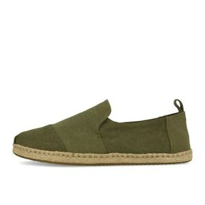 the latest 5accc db697 Details zu TOMS Deconstructed Alpargata Rope Olive Washed Canvas Schuhe  Sneaker Slipper