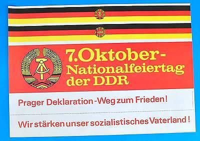 Ddr Plakat Poster 1373 | 7. Oktober 1983 Nationalfeiertag | 81 X 57 Cm Original