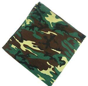 Praktisch Neu 55x55cm Bandana In Camouflage/grün/braun Halstuch Tarnfarbe Kopftuch Biker Rabatte Verkauf
