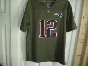 designer fashion f8e7b 71c76 Details about Tom Brady Youth Salute To Service Jersey Size Medium 10/12  Nike