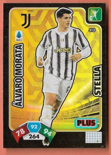 CALCIATORI ADRENALYN 2020-21 2021 CARD N.513 Álvaro Morata Juventus Plus Stella