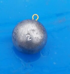 2lb cannon ball, downrigger balls, sinkers, lead, fishing weights