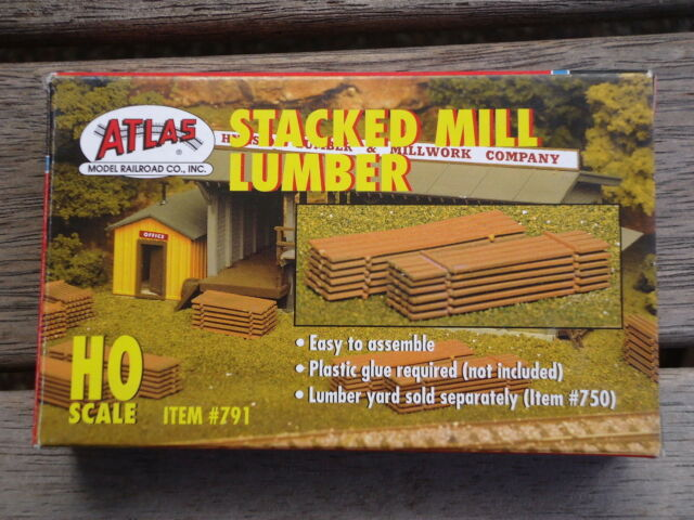 Atlas Stacked milled  Lumber kit #791 Ho Scale 1:87