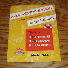 1953 Ford Tractor Dearborn Attachments Accessories Sales Brochure Model NAA 53