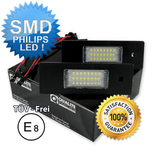 2x-LED-KENNZEICHENLEUCHTE-BMW-1-E81-E87-F20-E63-F12-MINI-KENNZEICHENBELEUCHTUNG
