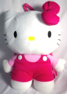 Hello Kitty Stuffed Animal Plush Backpack Bag Toy Child Kid Girl 15""