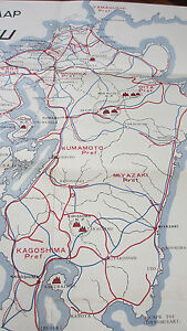 Details about RARE Tourist Map of Kyushu JAPAN~Published by the Fukuoka  Ladies Club~April 1956