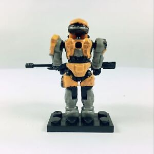Details about Halo Mega Bloks Series 6 UNSC Yellow Spartan Mark V with Gun  Base Boy Toy