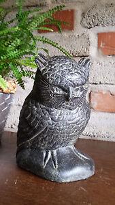 Eule-Lavastein-Skulptur-Vogel-Wald-Nacht-Tier-Nahrung-Maeuse-Deko-Skulptur-Bali
