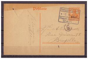 Dt-Occupation-Belgique-Entier-Postal-P-10-Gent-au-Bruxelles-02-02-1917-Zensur