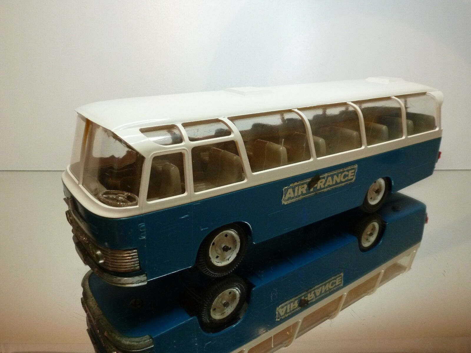 REX NEOPLAN AUTOBUS AIR FRANCE - bleu + blanc L37.0cm  - GOOD CONDITION
