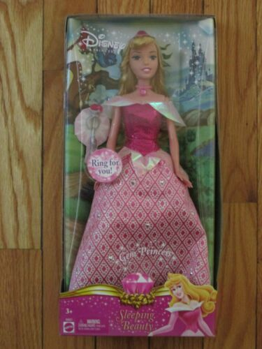 Mattell Barbie Disney Gem Princess Sleeping Beauty 2006 K6927 New in Box