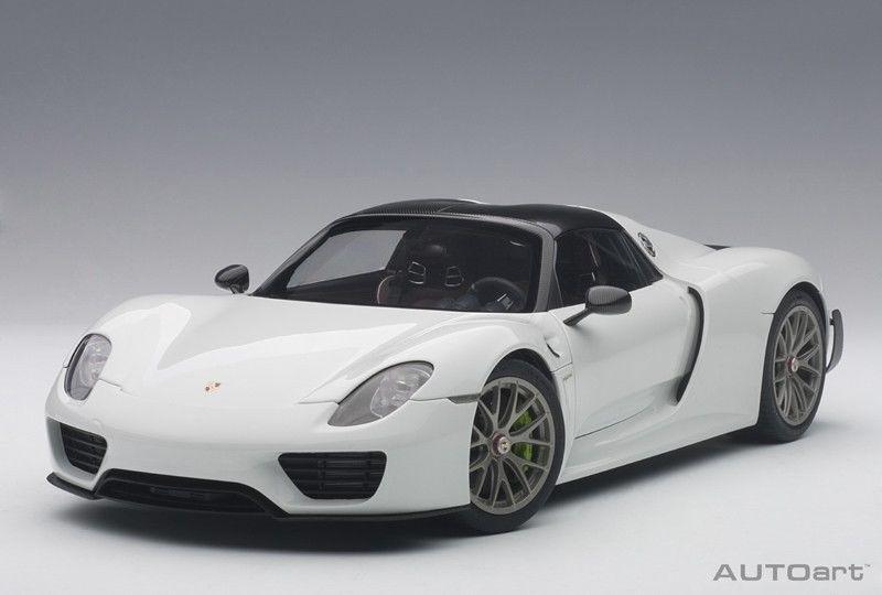 1 18 Autoart - Porsche 918 Spyder Pacchetto di Weissach (Lucido Bianco)