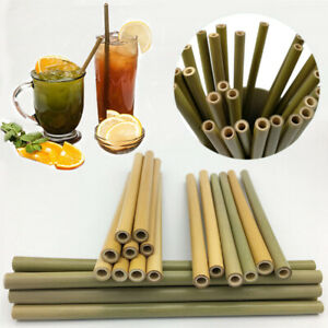 10pcs-Bamboo-Drinking-Straws-Reusable-Eco-Friendly-Party-Kitchen-Clean-Brush