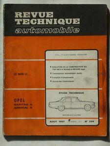 RTA revue technique automobile N° 256 OPEL KAPITAN ADMIRAL