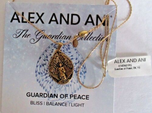 ALEX AND ANI GUARDIAN OF PEACE  NECKLACE GOLD WITH TAG AND CARD