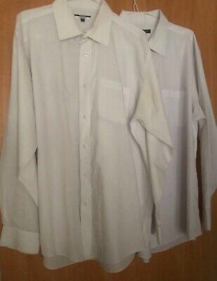 2 X George Plain Bianco Taglia 17 Magliette. Buy Uno Prendi Due Gratis! In Ottime Cond.- Top Angurie