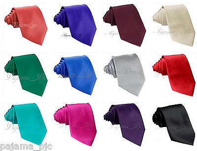 New formal men/'s necktie /& hankie set solid color polyester party prom navy blue