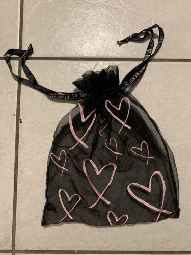 Victorias Secret Black/Pink Heart Mesh Lingerie Dr