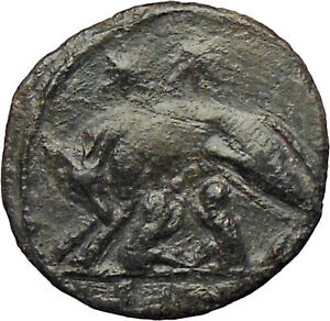Constantine-I-The-Great-330AD-Ancient-Roman-Coin-Romulus-amp-Remus-Wolf-i28947