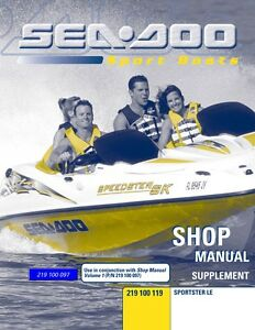 new sea doo sportster le supplement shop repair manual 219100119 rh ebay com 2003 sea doo sportster le repair manual 2003 seadoo sportster le service manual