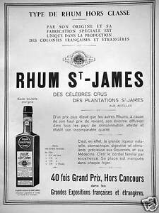 PUBLICITE-1933-TYPE-DE-RHUM-HORS-CLASSE-ST-JAMES-PAR-SON-ORIGINE-ET-FABRICATION