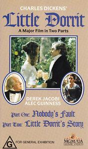 LITTLE-DORRIT-Charles-Dickens-Alec-Guinness-2-VIDEOS-VHS-Pal-SirH70