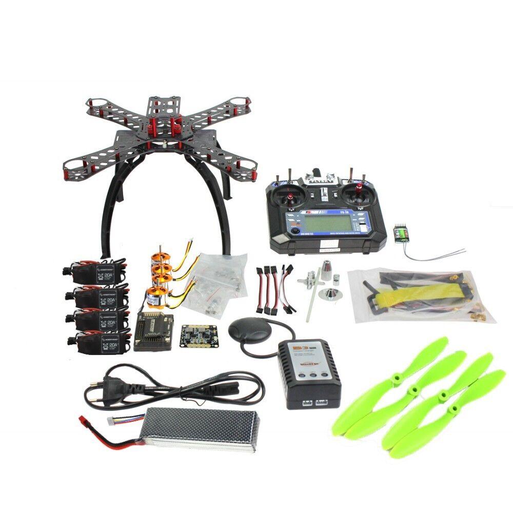 Volle kit diy - gps - drohne rc glasfaser - frame multicopter fpv apm2.8 1400kv motor