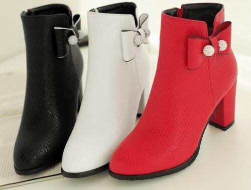 Stivali Nero Rosso 8399 Bianco 5 Donna Simil Scarpe 7 Stivaletti Pelle Tacco 1qU1r4w