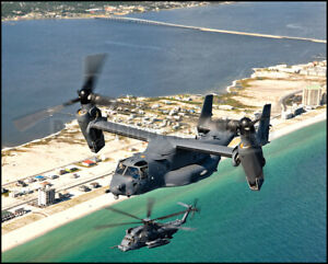 USAF CV-22 Osprey MH-53 8th & 20th SOS Hurlburt Field 2005 8x10 Aircraft Photos