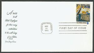 #1492 8c Postal Service Trabajadores, Artmaster FDC Cualquier 4=