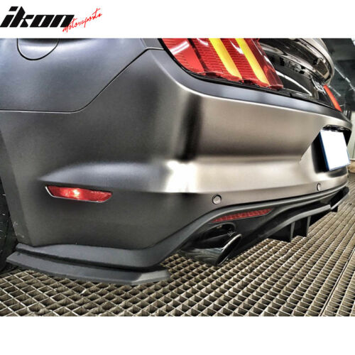3 Piece Set for PREMIUM Fits 15-17 Mustang R Spec Rear Diffuser Valance Panel