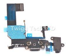 For iPhone 5C Grade A Black Charging Port - Charger Flex USB Dock Apple
