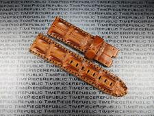 24mm Gold Brown ALLIGATOR HORNBACK Strap Leather Watch Band PANERAI PAM 1950 X