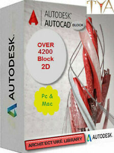 Details about AUTOCAD BLOCK COLLECTION DWG FILE DIGITAL ARCHITECTURE  LIBRARY OVER4200 BLOCK 2D
