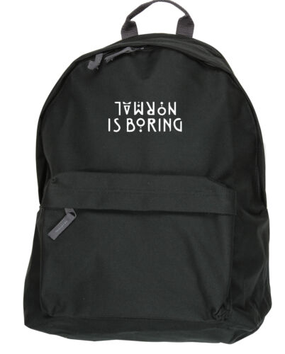 Normal is Boring backpack ruck sack american bag Langdon horror teenager 12129bp
