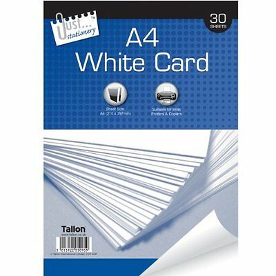 Art Craft School Office Inkjet Laser 30 Sheets A4 White Card 150 gsm