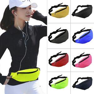 Outdoor Sport Bum Bag Fanny Pack Travel Hiking Waist Money Belt Zip Pouch Wallet