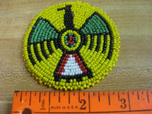 3 Inch Beaded Rosette Bead Bead Work Craft Non Native Sew On  Yellow
