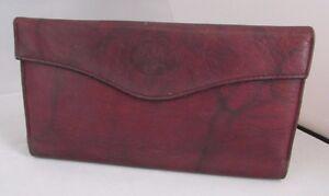 Vintage BUXTON Heiress Burgundy Red Leather Ladies Organizer Clutch Wallet