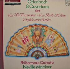 ++NEVILLE MARRINER/PHILHARMONIA 8 ouvertures OFFENBACH LP 1982 PHILIPS VG++