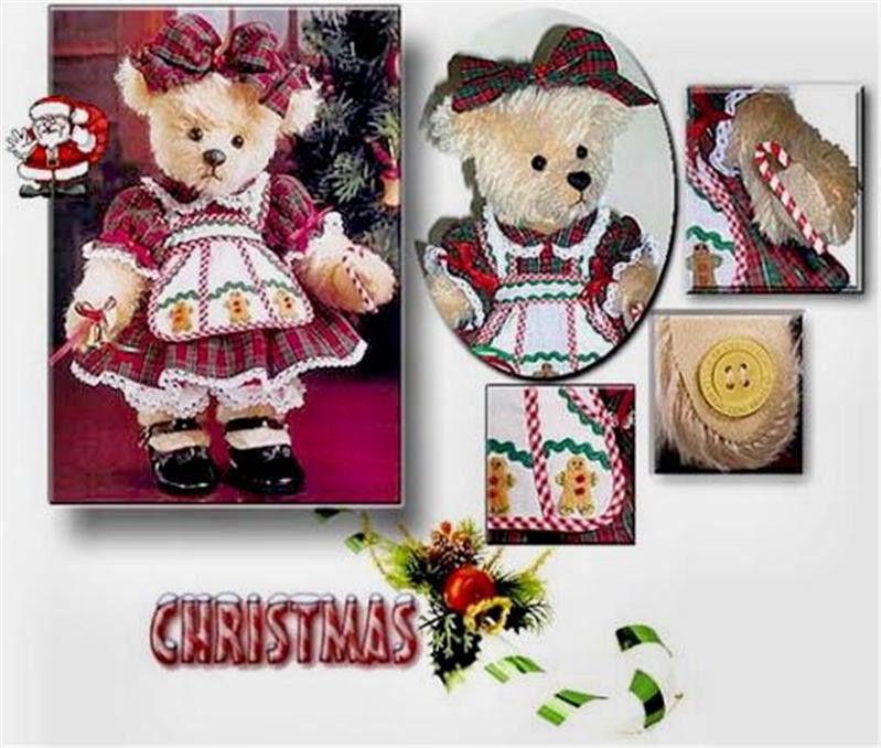 Franklin Mint HOLLY CHRISTMAS DRESS-UP TEDDY BEAR NIB