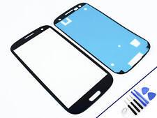 Cristal frontal para Samsung Galaxy s3 azul vidrio display pantalla táctil nuevo & OVP