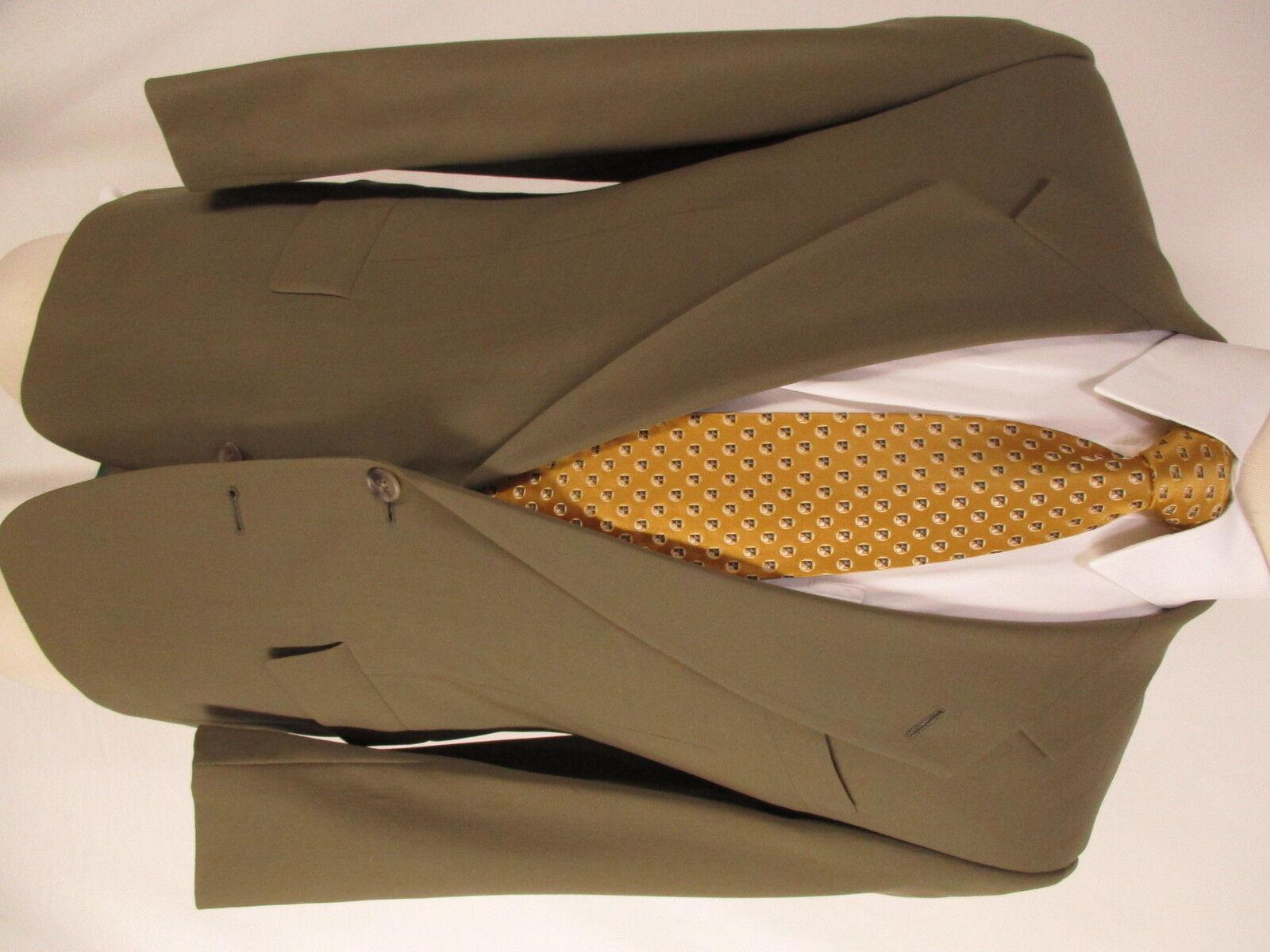 Hart Schaffner Marx  Herren Tan 2 Btn Suit 36S USA Made